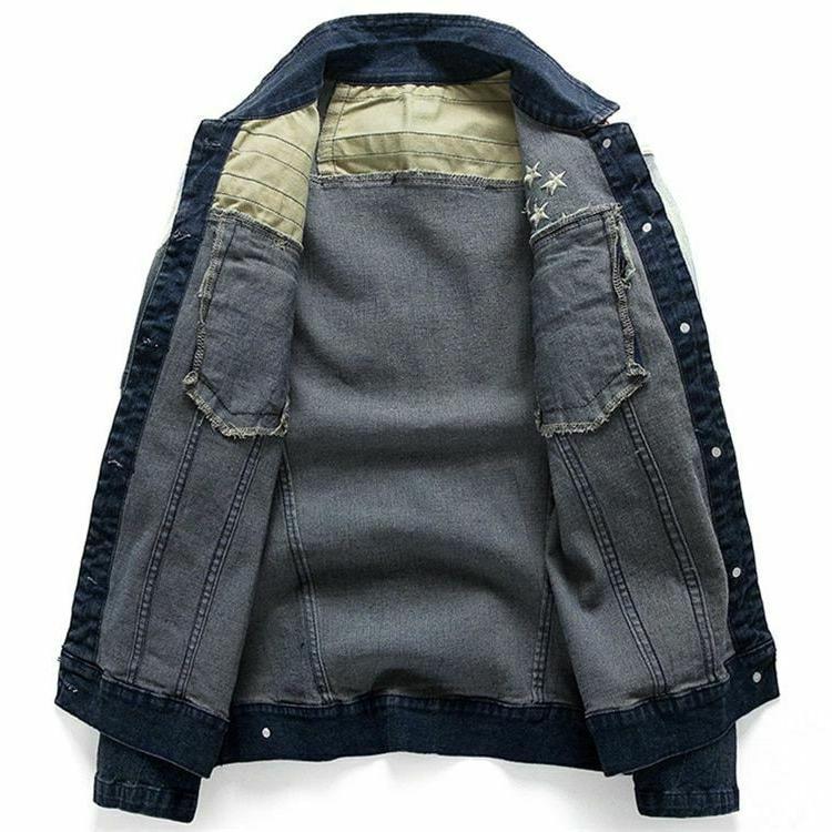 Men's Jean Jackets Pocket Star Fit