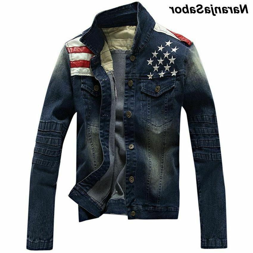 men s denim jean jackets pocket star
