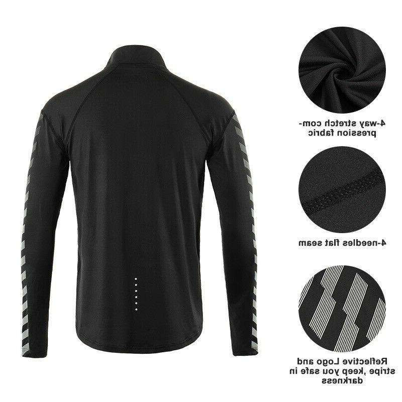 Men's Dry Shirts Elastic Running Clothing Reflective