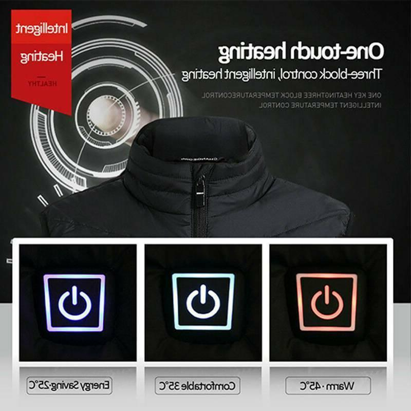 Mens Electric Heated Jacket USB Up Winter