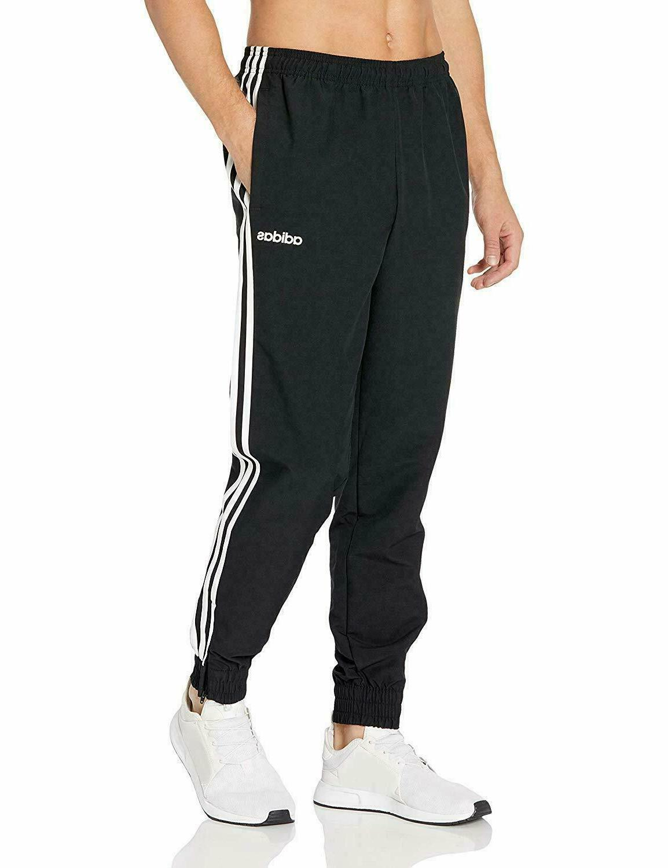 adidas Men's Essentials 3-stripes woven Jogger Pants Black W