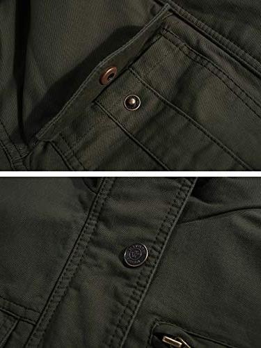 WenVen Men's Casual Cotton Air Jacket