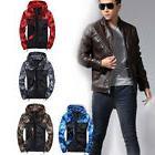 Men's Fashion Camouflage Coat Hoodies Jacket Clothing Windbr