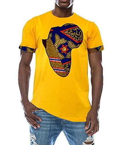 men s fashion short sleeve african print