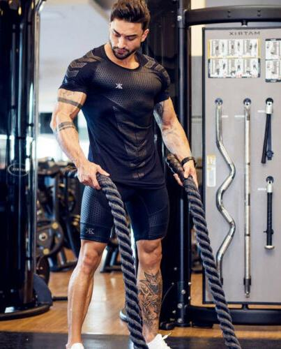 Men's Quick Drying Elastic Gym Short Sleeve Clothing