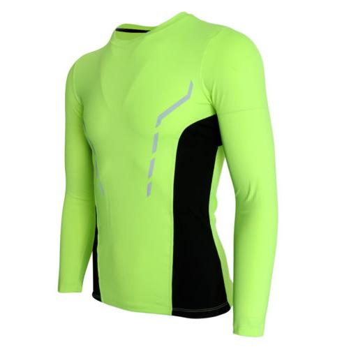 men s fitness compression top long sleeve