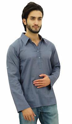 Atasi Men's Kurta Roll-Over Shirt Collar Neck Ethnic