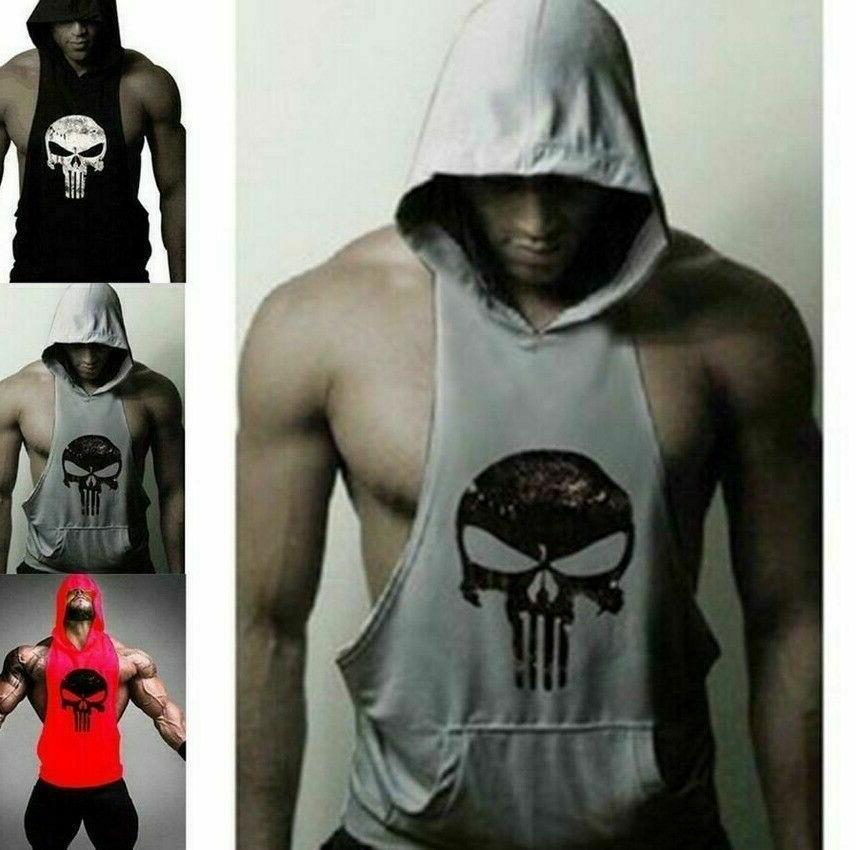 Men's Hoodie Bodybuilding Muscle Shirt US@