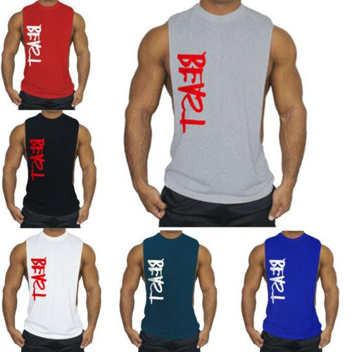 Men's Top Bodybuilding Letter Vest