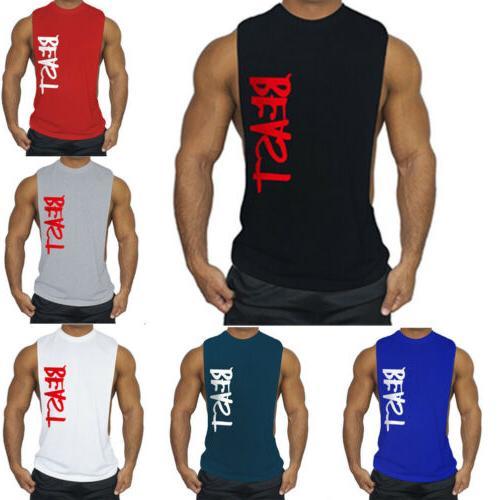 men s gym sleeveless tank top t