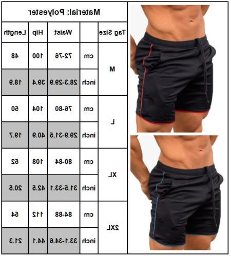 Men's Workout Sports Casual Fitness Running Short
