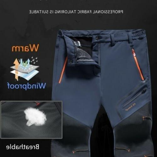Men's Trousers Fleece Thicken Waterproof