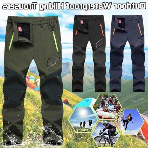 Men's Hiking Trousers Thermal Fleece Waterproof Windproof