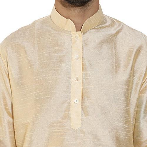 KISAH Men's Silk Plain & Churidar Set for & Season