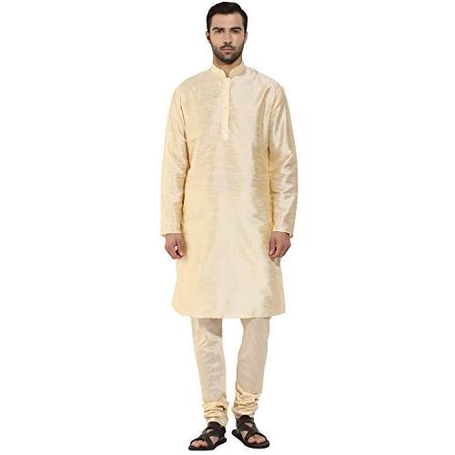 men s indian dupion silk plain kurta
