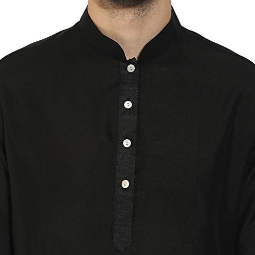 KISAH Solid Jaquard Silk Kurta 40 for &