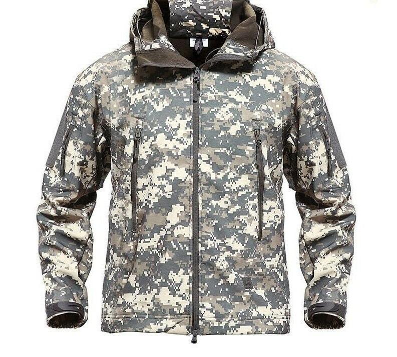 Men's Tactical Themed Waterproof Windbreaker Outwear