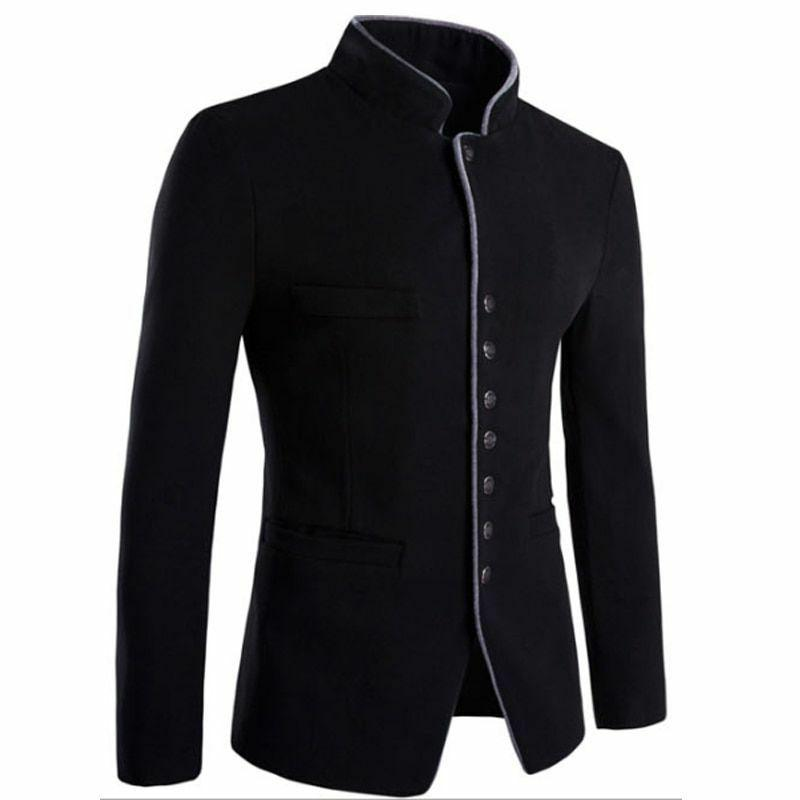 Men's Slim Type Formal Solid Patterned Clothes