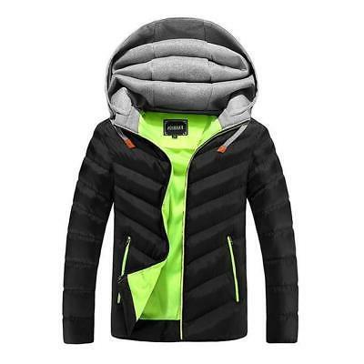 Men's Men Outerwear Thick Cotton Jacket Male