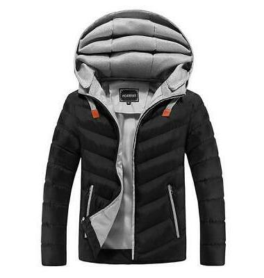Men's Jackets Hooded Men Thick Jacket Male
