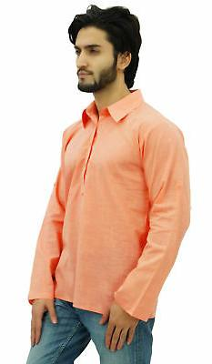 Atasi Men's Peach Collar Neck