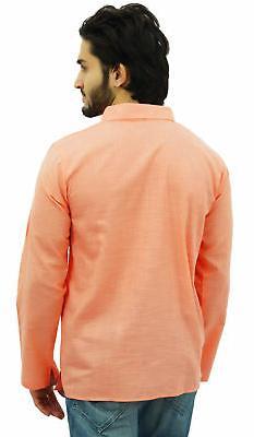 Atasi Men's Peach Collar Ethnic Indian Clothing
