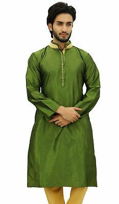 Atasi Men's Green Dupion Ethnic Clothing