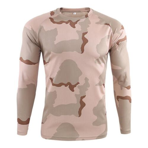 Men's Long Sleeve Fitness T Gym Clothes Top