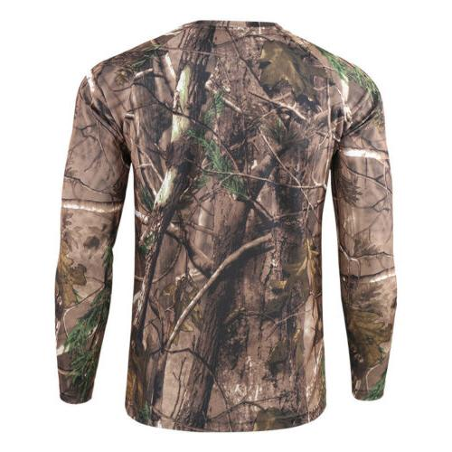 Men's Long Sleeve Camouflage Fitness T Top