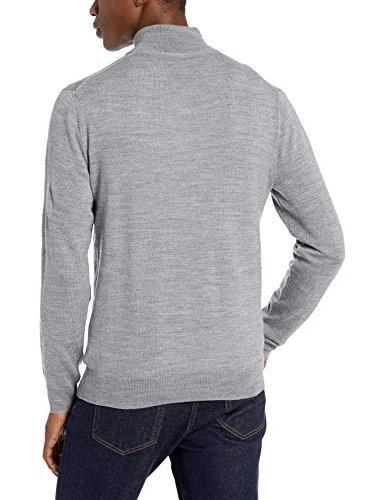 Goodthreads Merino Quarter Sweater, Heather Grey, XX-Large