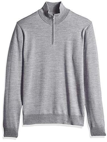 men s merino wool quarter zip sweater