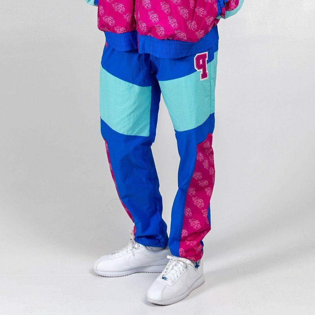 Pink Dolphin Men's Mr. Positive Windbreaker Pants Pink Blue