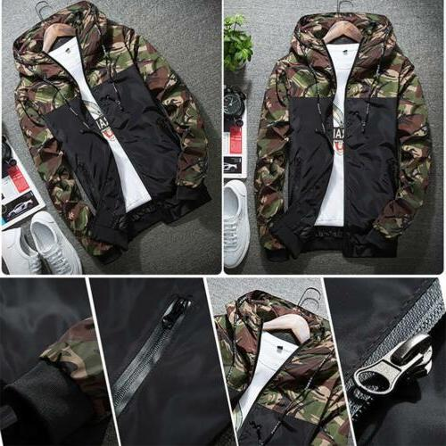 Men's Outwear Camouflage Coat Hoodies Clothing Windbreaker Male