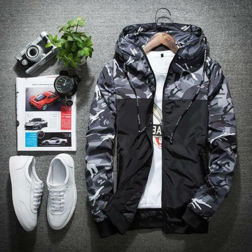Men's Camouflage Hoodies Jacket Clothing Windbreaker Male Novelty
