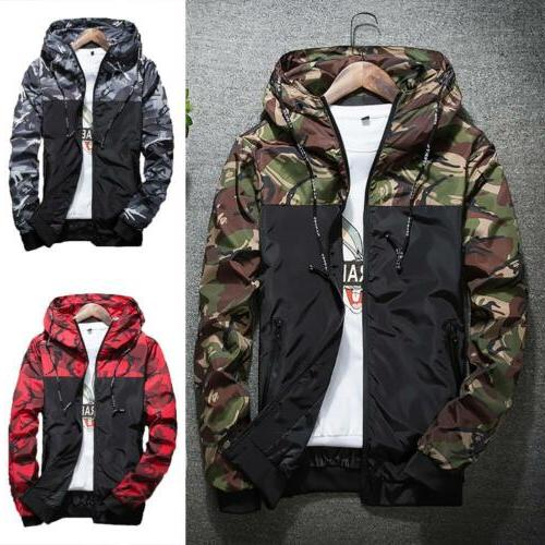 men s outwear camouflage coat hoodies jacket