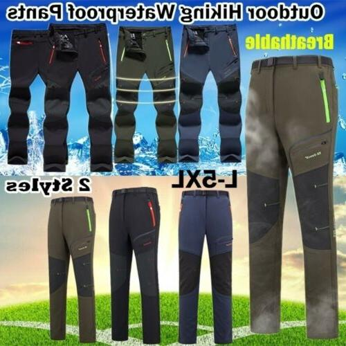 Men's Hiking Trousers Thermal Fleece Thicken Pants Outdoor W