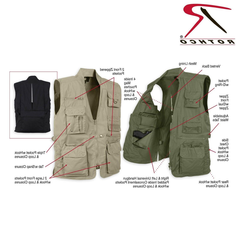 Rothco Men's Plain Cloths Black Concealed Shell Vest Item # 8567