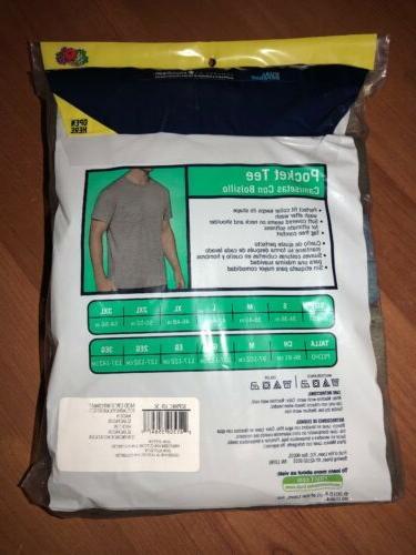 Fruit of Men's T-shirts Tees 5-pack 100% Cotton!