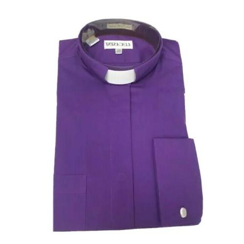 men s purple clergy dress shirt