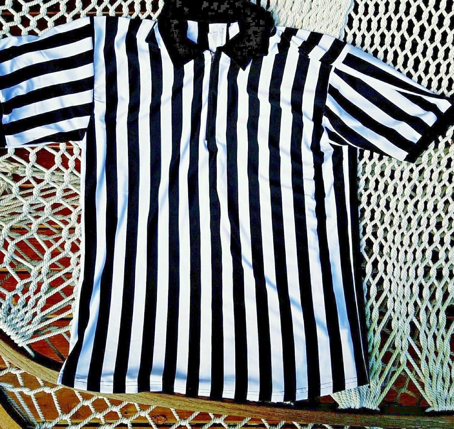 men s referee shirt 1 2 zip