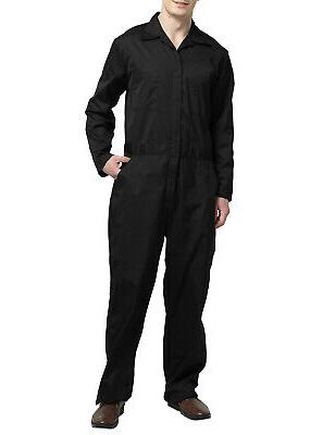TopTie Sleeve Coverall Overall Snap Zip Front Basic Work Wear