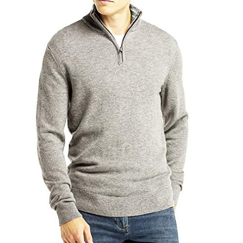 men s relaxed fit quarter zip sweater