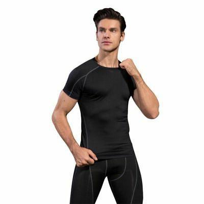 Men's Short Sleeve Compression Shirt Layer Clothes