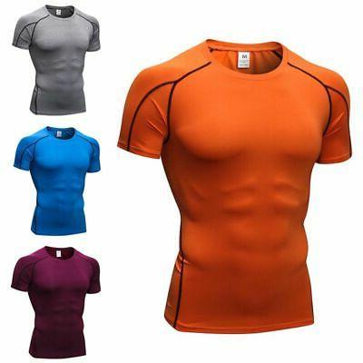 Men's Short Shirt Layer Fitness