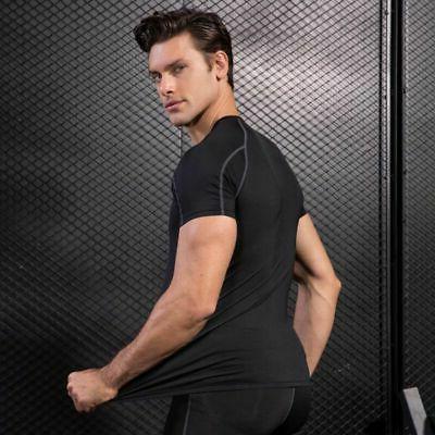 Men's Short Sleeve Compression Shirt Base Clothes
