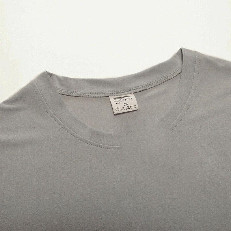 Men's Skinny T-shirts Running Quick Short