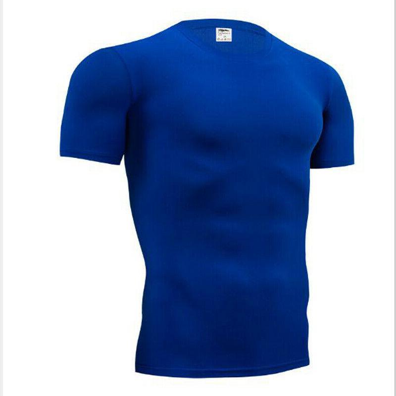 Men's Skinny Running Quick Short Sleeve Top