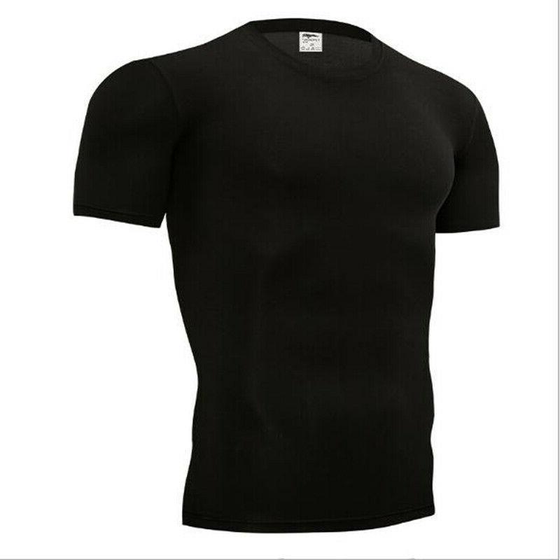 Men's Skinny Running Short Sleeve Top