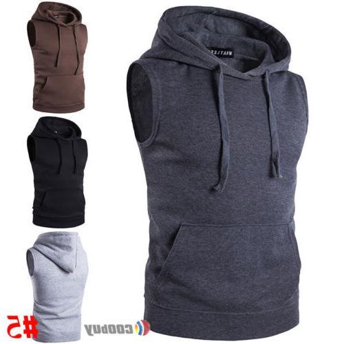 Men's Slim Vest Sport Muscle Coat Jacket Outwear