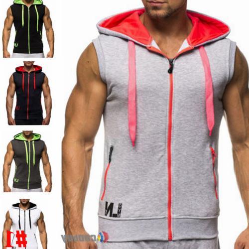 Men's Slim Vest Sport Sweatshirt Coat